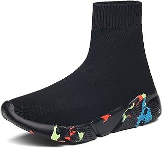 BADIER, Zapatillas de deporte con malla superior alta para correr y correr