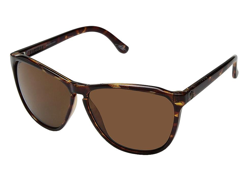 Electric Eyewear Encelia Polarized (Gloss Tortoise/OHM Polarized Bronze) Athletic Performance Sport Sunglasses