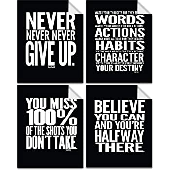 Set x 2 motivational prints Nothing is impossible Believe in yourself gift
