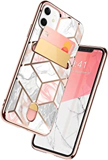i-Blason Cosmo Wallet Slim Designer Wallet Case for Apple iPhone 11 (2019), Marble, 6.1""