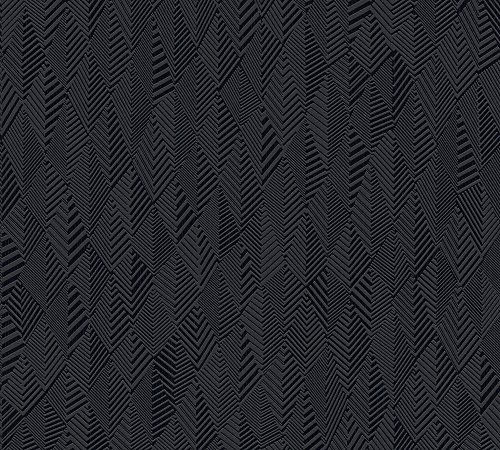 A.S. Création Vliestapete Club Tropicana Tapete Uni 10,05 m x 0,53 m schwarz Made in Germany 359983 35998-3