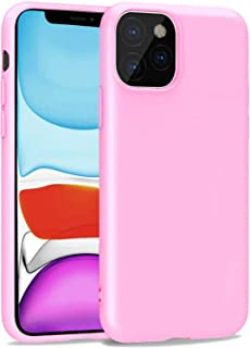 iBarbe Compatible with iPhone 11 6.1 Inch Case, Soft Plastic Slim Fit Full Protective Cover with Matte Finish Grip Phone Bumper with Anti-Scratch Shockproof Protective Cover - Pink