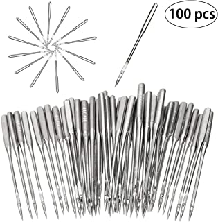 Sewing Machine Needles, Universal Regular Point for Brother, Singer, Varmax, Janome, 5 Sizes 65/9, 75/11, 90/14, 100/16, 110/18(100pcs)