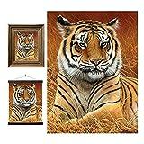 3D LiveLife Lenticular Cuadros Decoración - Distante de Deluxebase. Poster 3D sin marco de tigres. Obra de arte original con licencia del reconocido artista, Jeremy Paul