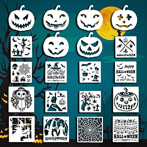 Halloween Schablonen Kunststoff Zeichenschablonen Thema Malerei Vorlage DIY Dekor Schablonen Handwerk Scrapbooking Kunststoff Zeichenkarten 20 Stück