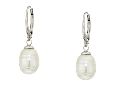 Majorica 10 mm Baroque Pearl Earrings (White) Earring