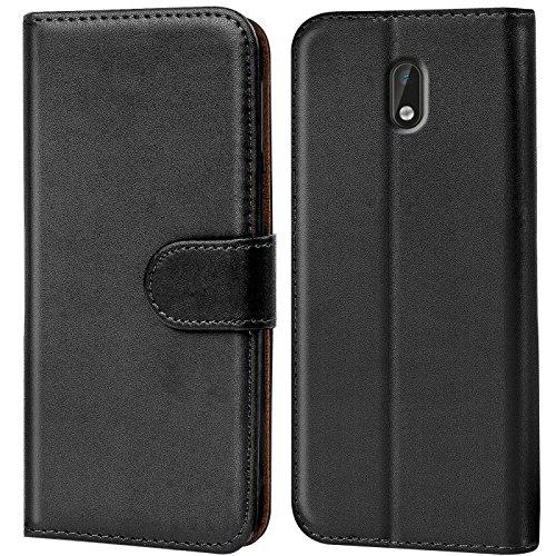 Verco Nokia 3 Hülle, Handyhülle für Nokia 3 Tasche PU Leder Flip Case Brieftasche - Schwarz