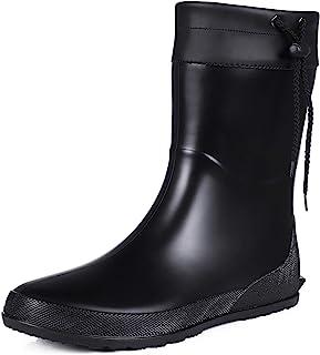 Asgard Women`s Mid Calf Rain Boots Collar Gardening Boots Ultra Lightweight Portable Garden Shoes