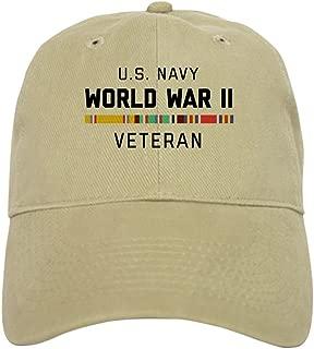 CafePress Navy World War Veteran Baseball Cap
