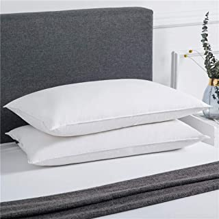 puredown Luxury White Down Pillows for Sleeping Soft Bed Pillows Set of 2 Standard/Queen Size