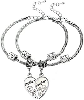 Mother Daughter Bracelets (2pcs) - Mother Daughter Jewelry Set for Mom or Daughter