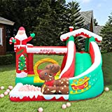 Wakepa Inflatable Bouncer, Playhouse Bounce Castle with Water Slide&Jumping Castle Slide with Blower, Family Backyard Bouncy Castle (Shipping from USA, Multicolour 2)