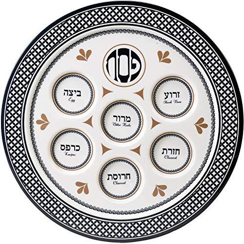 Rite Lite PP-14163 Seder Traditions Melamine Seder Plate by Rite -Lite Judaica