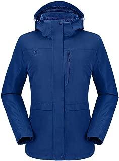 Womens 3 in 1 Waterproof Ski Snow Winter Jacket Hooded Coat with Puffer Liner