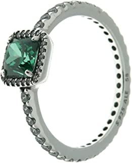 42c13fccc PANDORA Timeless Elegance Ring, Green & Clear CZ 190947GCZ-50 EU ...