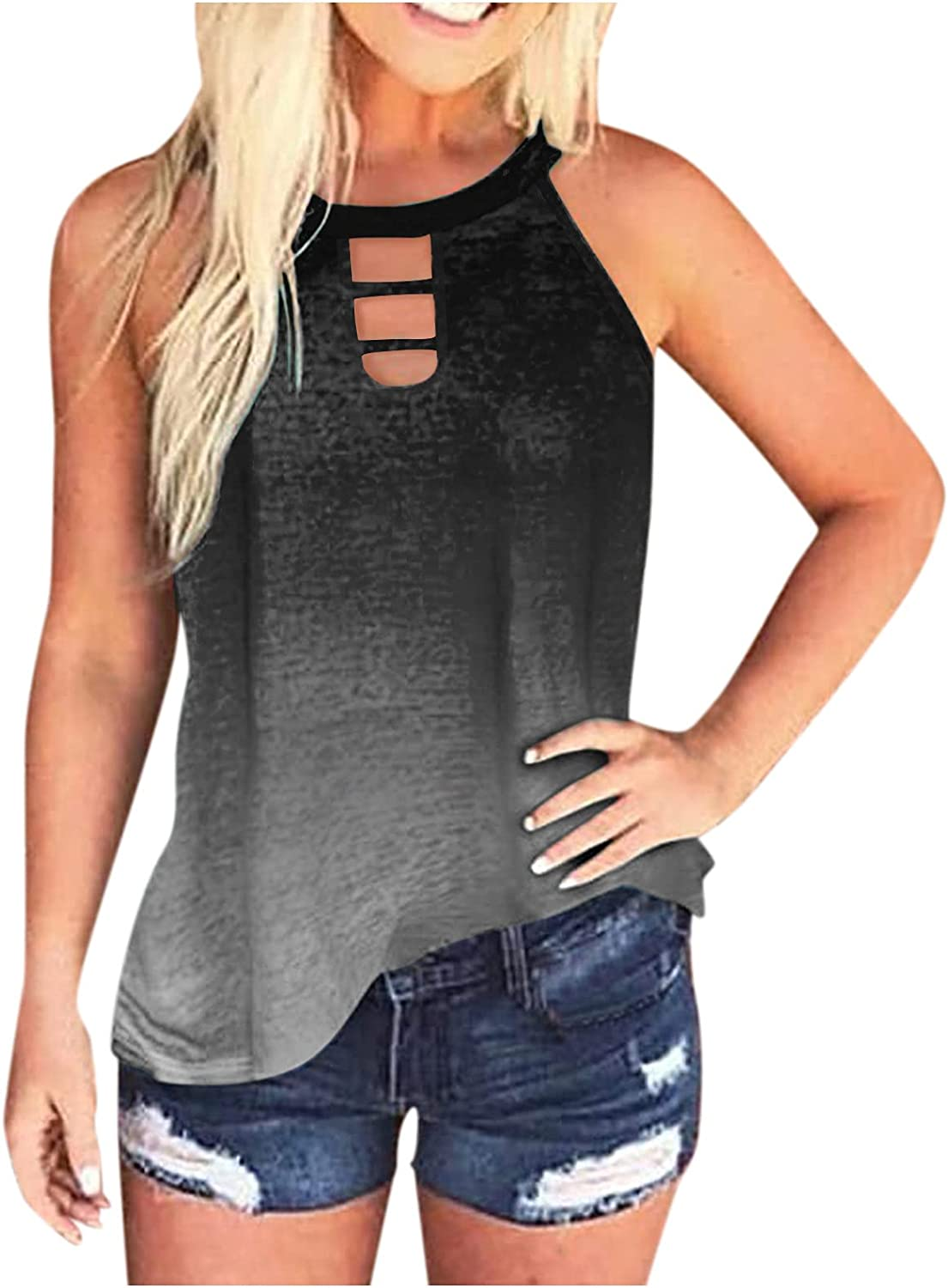 Gerichy Womens Tank Tops Loose Fit,Womens Casual Summer Workout Sleeveless Tank Shirts Blouses Tunics Tees Vest