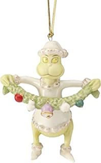 Lenox Christmas Grinch Grabs The Garland Ornament Dr Seuss Who Stole