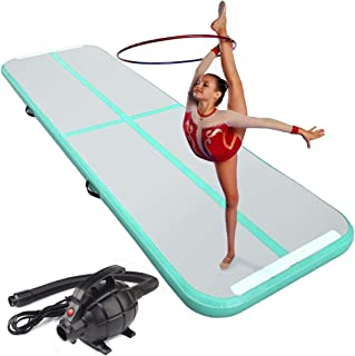 Lucear 10ft/13ft/16ft/20ft Air Track Inflatable Gymnastics Tumbling Mat AirTrack for Yoga Cheerleading Practice Gymnastics Beach with Air Pump