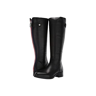 Steve Madden Journal Riding Boots (Black Leather) Women