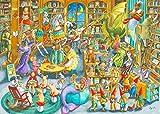 Ravensburger- Medianoche en la Biblioteca Rompecabeza Piezas, Multicolor (Puzzle 1000 Pz - Fantasy)