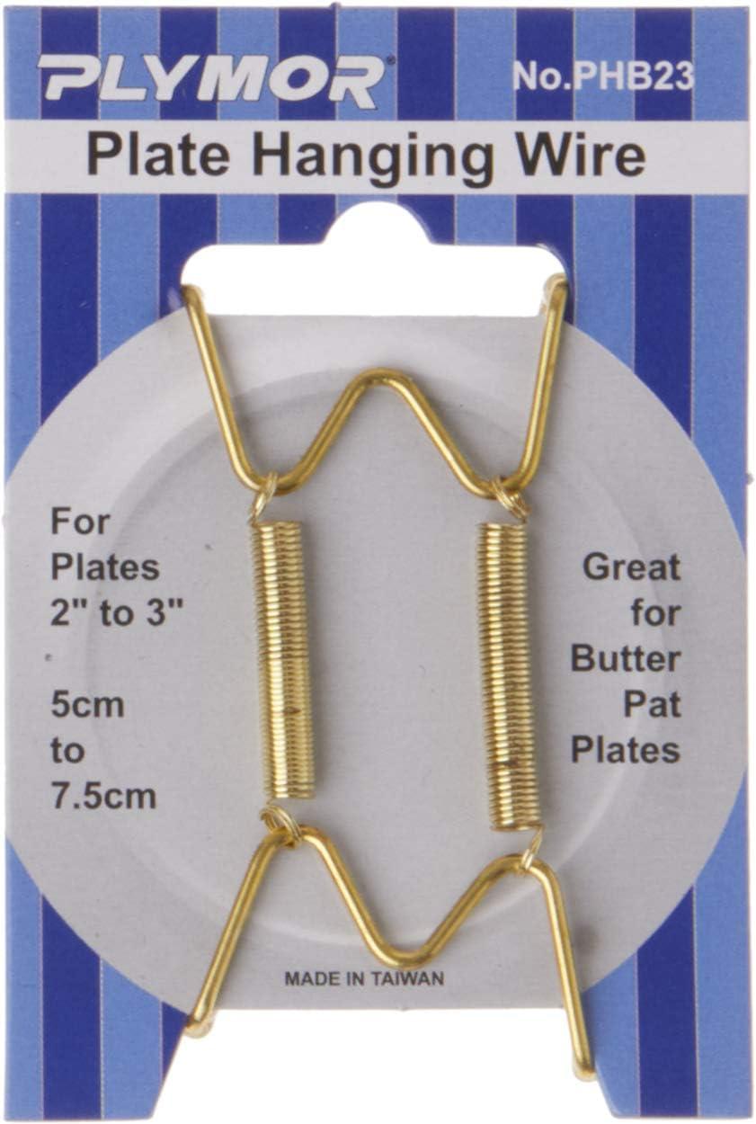 Plymor Shiny Gold Award-winning store Finish Wall Mountable 12 Hanger Popular standard Plate Pack