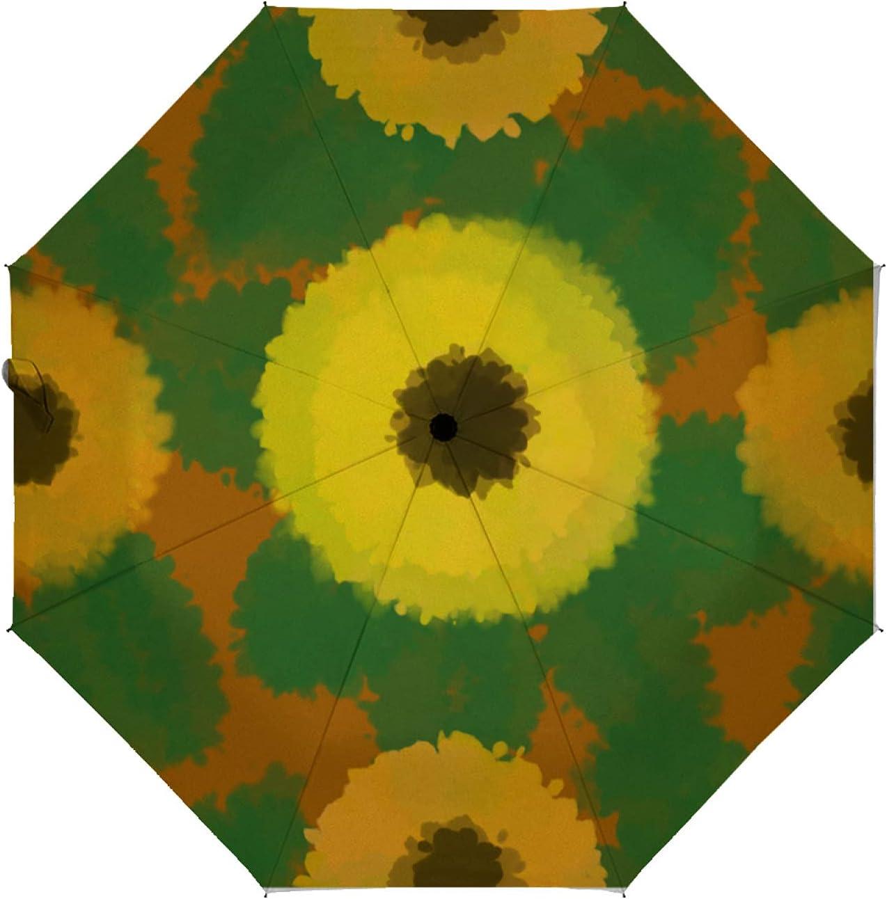 depot Courier shipping free shipping ZXZNC Compact Umbrella Watercolor Splash Green Au Tie Dye Yellow