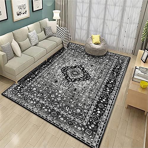 alfombras persas Alfombra Gris Oscuro, Alfombra de Lavado de Agua Transpirable alfombras Dormitorio Modernas -Gris Oscuro_160x230cm