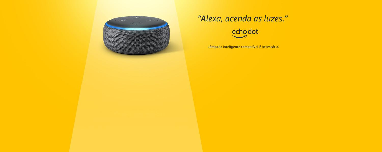 Echo Dot 3ª geração. Peça à Alexa para ligar a TV. Frete grátis. São necessários dispositivos compatíveis