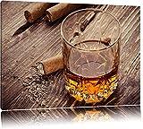 Whiskey und Zigarren Format: 60x40 auf Leinwand, XXL