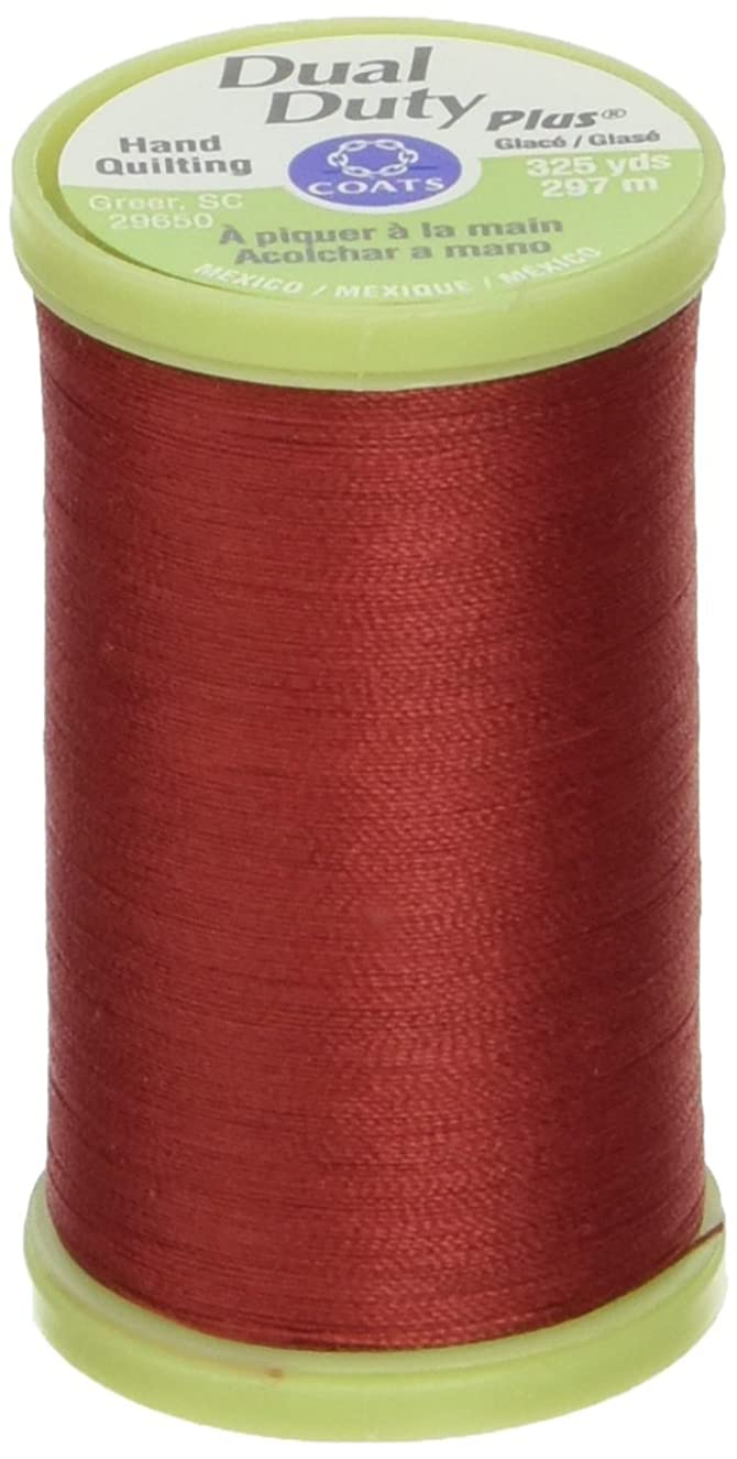 Coats: Thread & Zippers Dual Duty Plus Hand Quilting Thread, 325-Yard, Red