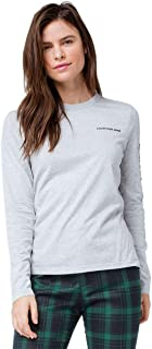 Jeans Women's Cotton Long-Sleeve Logo Tee