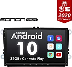 2020 Newest Double Din Car Setreo Eonon Android 10 Car Radio 32GB ROM for Volkswagen/SEAT/Skoda Compatible with Fender System Support Apple Carplay/Android Auto/WiFi/Fast Boot-9 Inch-GA9453B