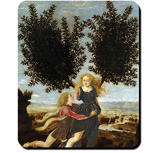 Apollo Daphne Gemälde 15 Jahrhundert Pollaiuolo Mythologie Griechenland Götter Olymp Nymphe - Mauspad Mousepad Computer Laptop PC #16421