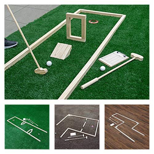 Carromco Global Minigolf Set, 18 Loch, 18 Bahnen zum Nachbauen