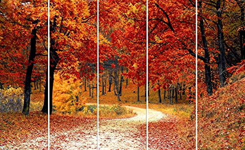 Kyara arts Multiple Frames, Beautiful Forest View Nature Wall Painting for Living Room, Bedroom, Office, Hotels, Drawing Room...