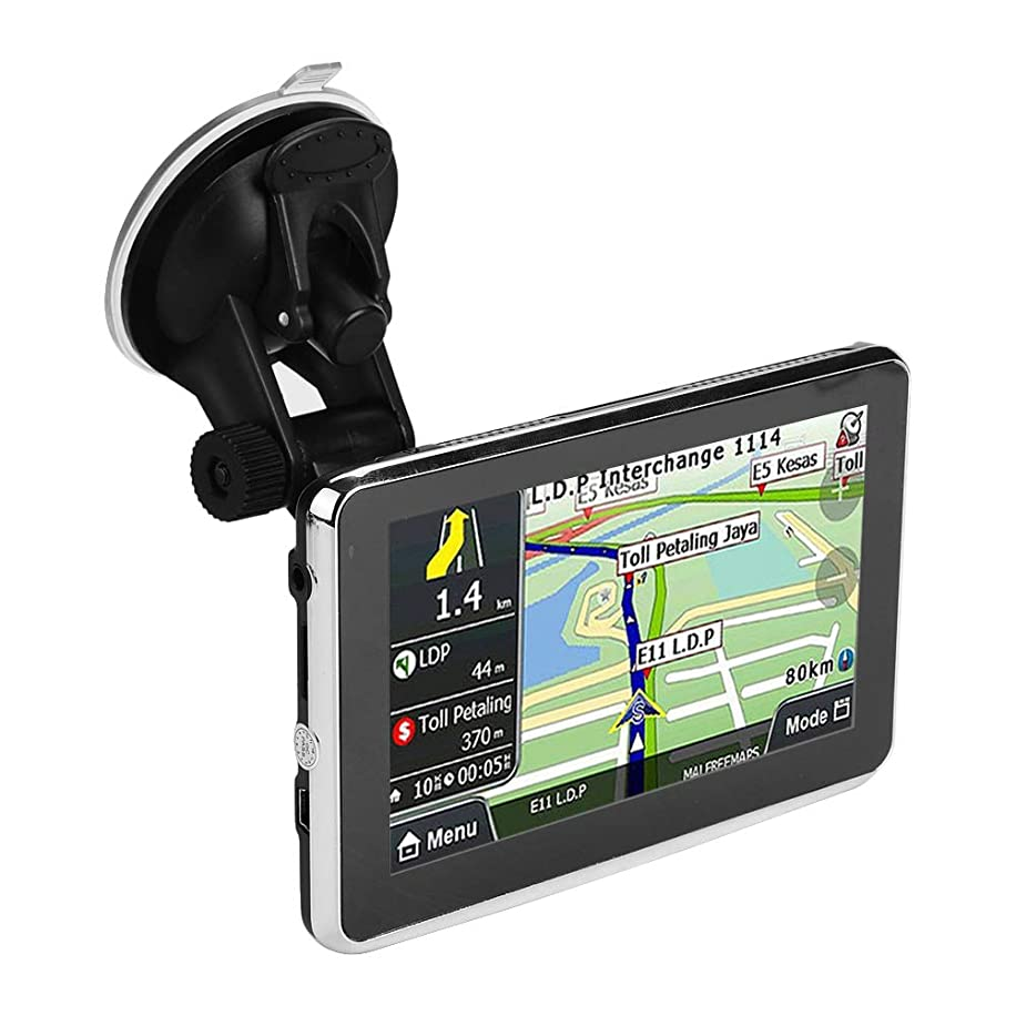 5 inch GPS Navigation Device Touch Screen 256MB 8GB Universal for Car Truck MP3 FM Europe Map/Lifetime Maps/Live Traffic/Live Parking/Driver Alerts/Automatic Voice