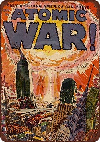 qidushop 1952 Atomic War! Letrero Decorativo de Metal para Pared con diseño de cómic, 20 x 30 cm