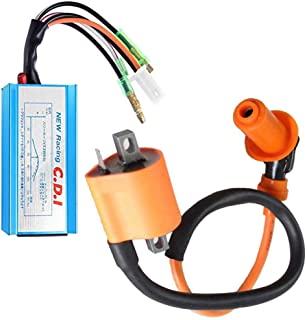 Racing Performance Ignition Coil with CDI for Polaris Sportsman 90 Scrambler 90 Predator 90 ATV Yamaha YFM350 YFS200 by TOPEMAI