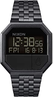 Re-Run Men's 80s Style Digital Watch (38.5mm. Stainless Steel Band)