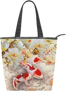 MALPLENA Malpela Damen Handtasche mit Blumen und Koi