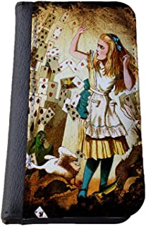 Alice in Wonderland playing cards Samsung Galaxy S4 wallet case PU leather case, foldable flip case, book style