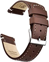 Ritche Quick Release Leather Watch Band Top Grain Leather Watch Strap 18mm 19mm 20mm 21mm 22mm 23mm or 24mm for Men and Women