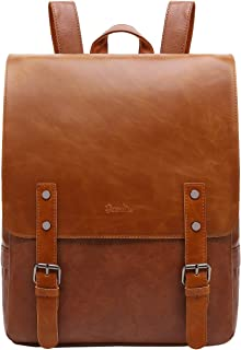 ZEBELLA Womens Leather Backpack Vintage Brown Travel Daypack College Bookbag-Light Brown