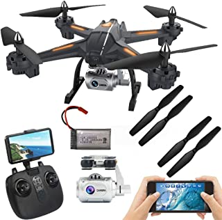 Charberry Global Drone S5 5.8G 1080P WiFi FPV Camera RC Quadcopter Drone Aircraft Hot (Black)