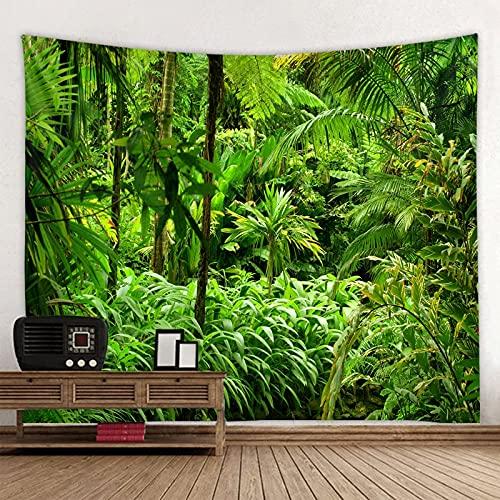 Tapiz de árbol de sombra verde para colgar en la pared, alfombra de Picnic en la playa de arena, almohadilla para tienda de campaña, colcha para dormir, decoración del hogar, hoja de tela A2 130x150cm