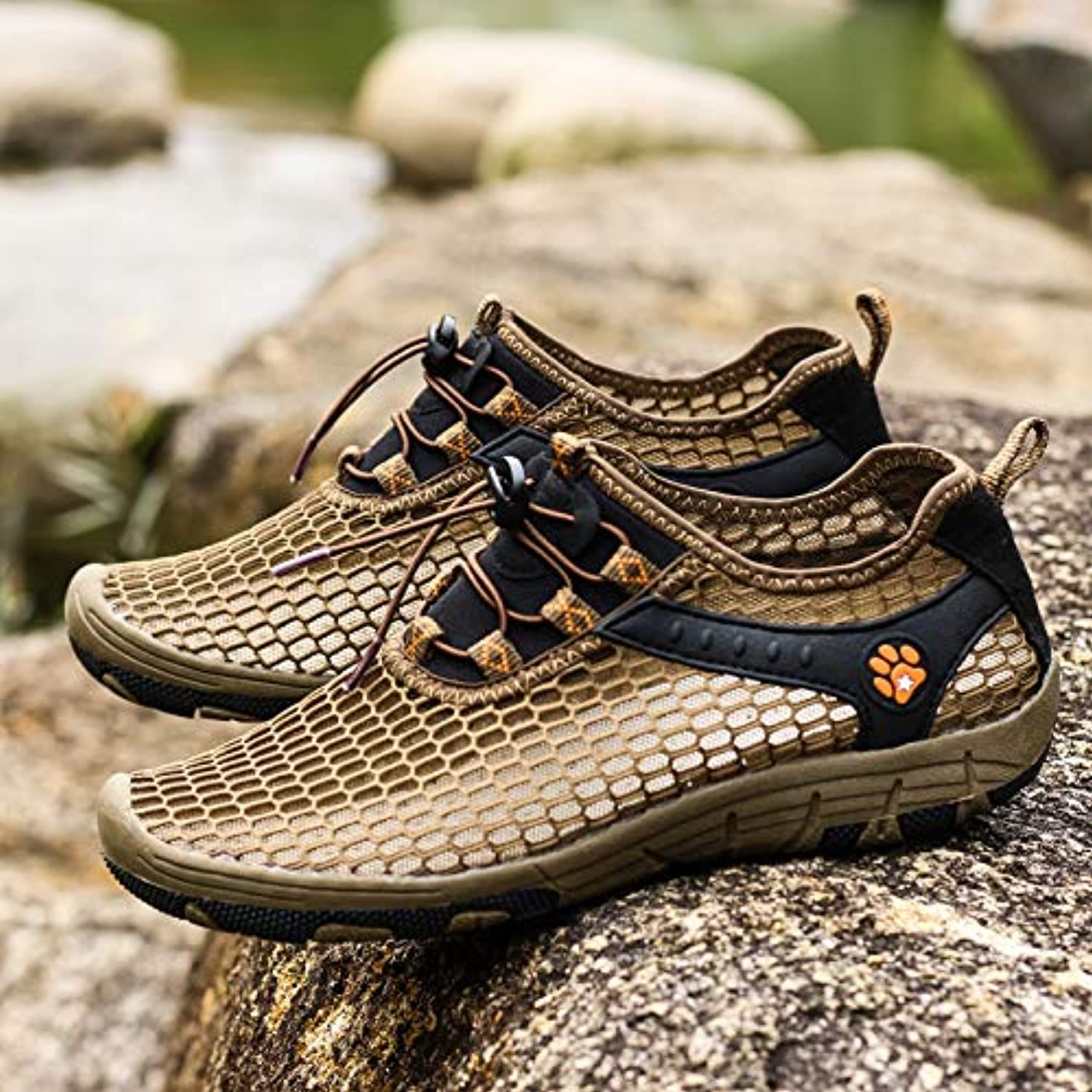 OPPP Water shoes Men's breathable outdoor mesh shoes sports upstream shoes men's shoes women's shoes sports quick-drying beach shoes