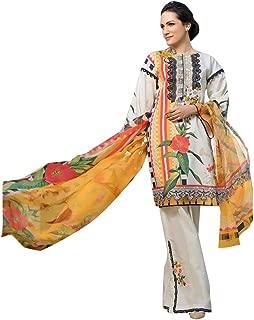 Lawn Cotton Printed Pakistani Designer Kashmiri Pattern Palaazo Salwar Kameez Muslim Suit 8213