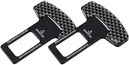 Universal Vehicle Mounted Carbon Fiber Car Safety Seat Belt Buckle Clip Car-Styling - Pack of 2