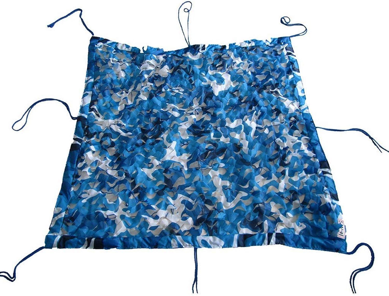 ACZZ Tarpaulin Camouflage Netting Woodland Sonnenschutznetz Verstrktes Tarnnetz Leichte, langlebige Camping Jagd Dschungel Fotografie - Blau,4 M × 5 M