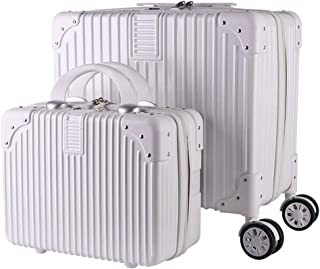 JXSHQS Travel Suitcase Trolley Case Combination Vertical Striped Cosmetic Case Retro Boarding and Convenient Universal Wheel Waterproof and Lightweight Trolley case